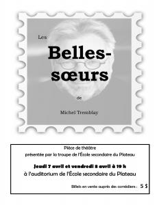 Affiche 2016 Les Belles-Soeurs