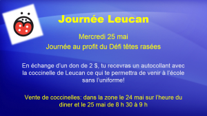 Journee Leucan 25 mai