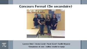 Concours Fermat (5e)