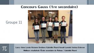 Concours Gauss (1re secondaire)