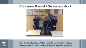 Concours Pascal (3e)